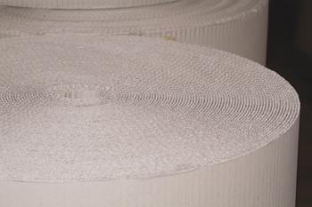 Corrugated paper rolls from Ipswich Packaging.